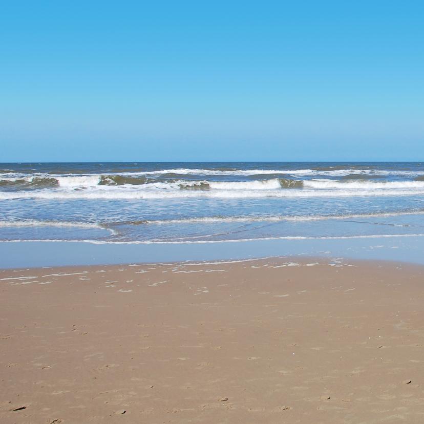 Rouwkaart Noordzee strand 2