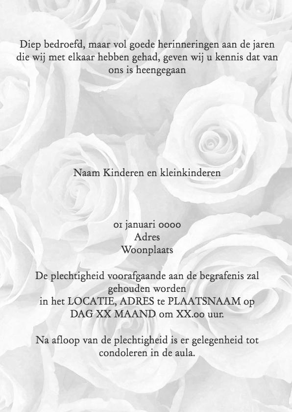 Rouwkaart olieverf rozen 3