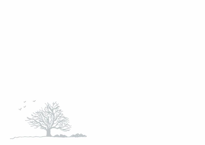Rouwkaart rouwboom in grijs 3
