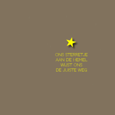 rouwkaart sterretje aan hemel 2