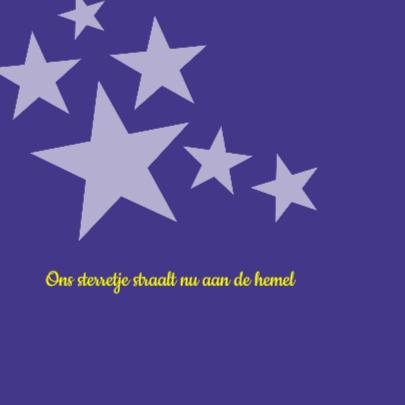 rouwkaart sterretje 2