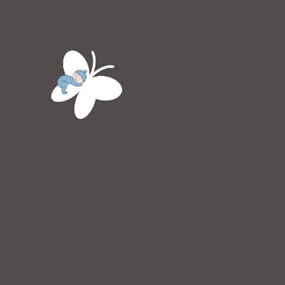 Rouwkaartje jongen op vlinder 2