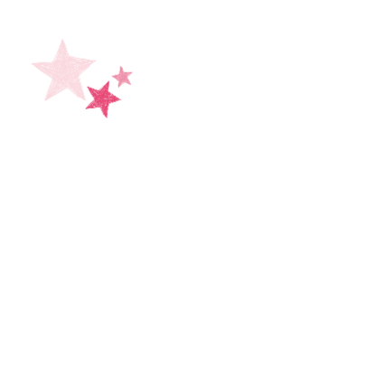 Roze hart met sterren  2
