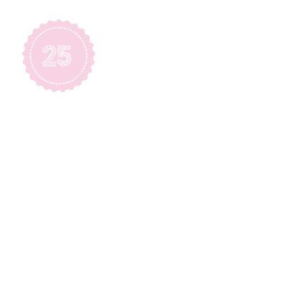 Roze jubileumkaart 25 2