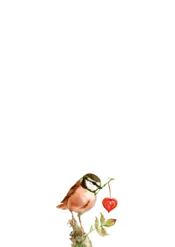 Roze vogeltje met een hartje 2