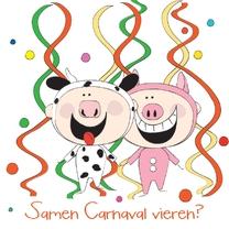 Carnavalskaarten - Samen Carnaval vieren