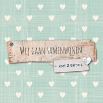 Samenwonen kaarten - Samenwonen-hout-roelbarbara