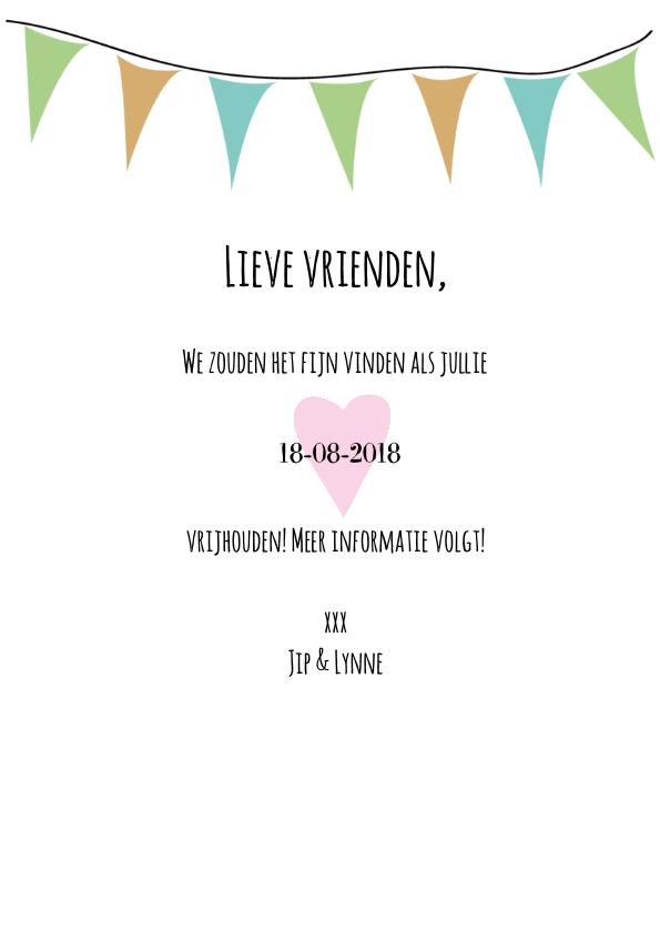 Save the date aankondiging 3