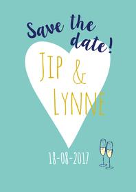 Trouwkaarten - Save the date aankondiging