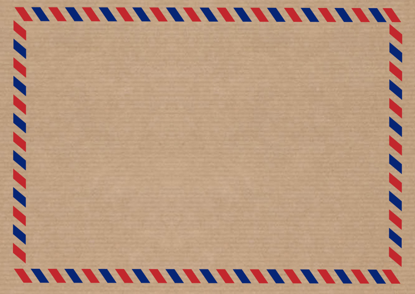Save the date air mail - DH 2