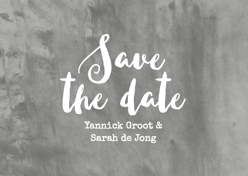 Save The Date aquarel grijs 2