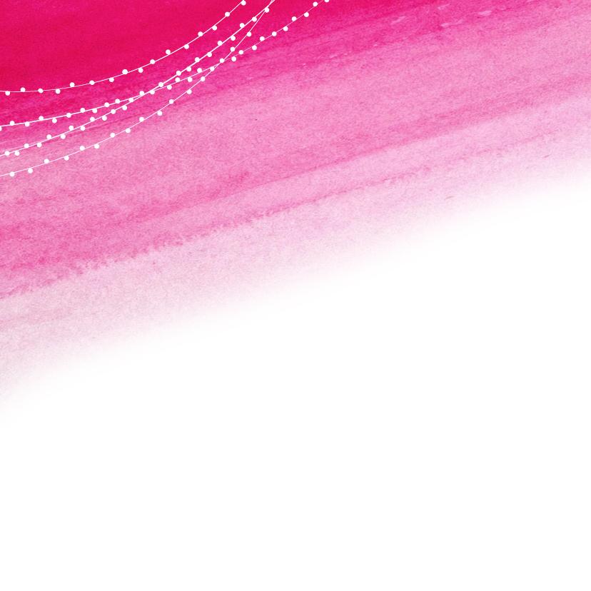 Save the Date aquarel roze - DH 2