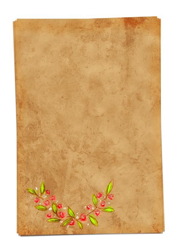 Save the Date bloemen papier- HR 2