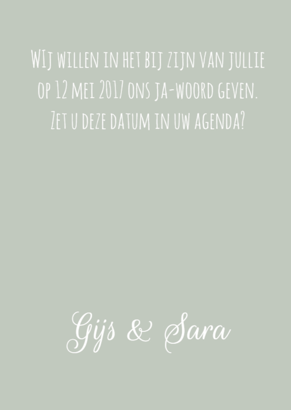 Save the Date bloemen 3