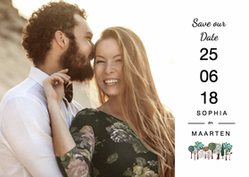 Trouwkaarten - Save the Date Bomen
