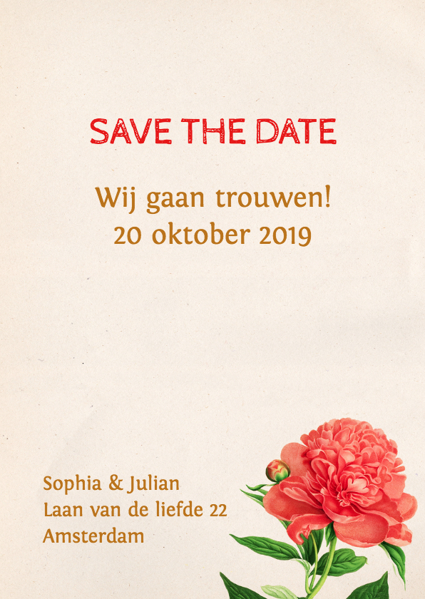 Save the Date Botanisch Aquarel 3