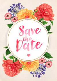 Save the Date Botanisch Aquarel
