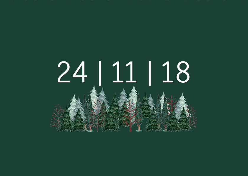Save the Date Dennenbomen Bos 3