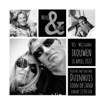 Trouwkaarten - Save the Date fotocollage & SG