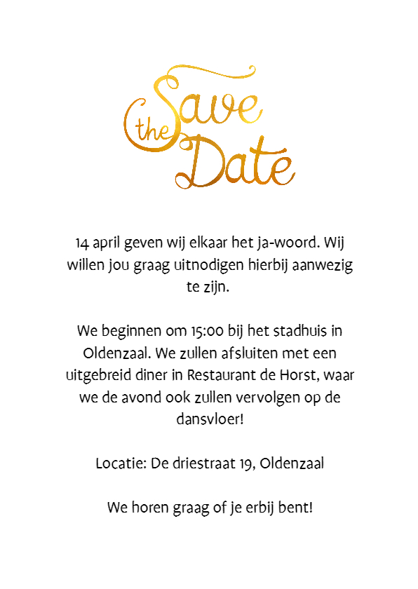 Save the Date Golden Spot - SV 3