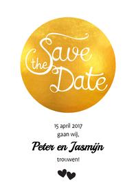 Trouwkaarten - Save the Date Golden Spot - SV