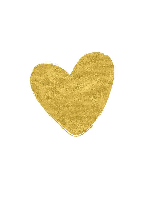 Save the Date goud hart - OT 2