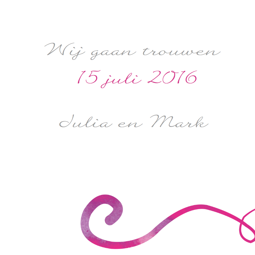 Save the date - hart inkt - MD 3