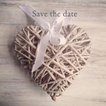 Trouwkaarten - Save the date hart instagramstijl
