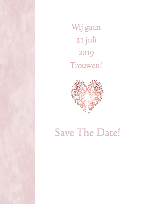 Save the date hart roze 2