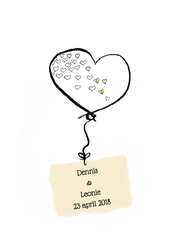 Save the date Hartjes ballon 2