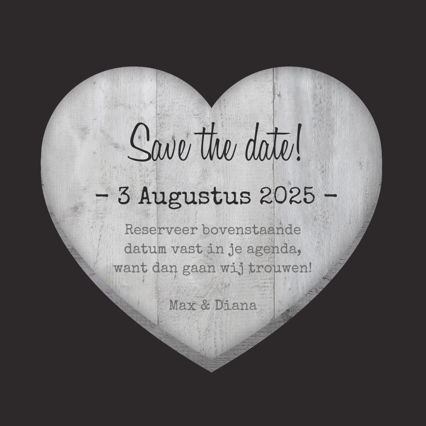 Save the date Hout Hart hangers 3