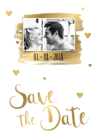 Trouwkaarten - Save the Date kaart 2 - WW