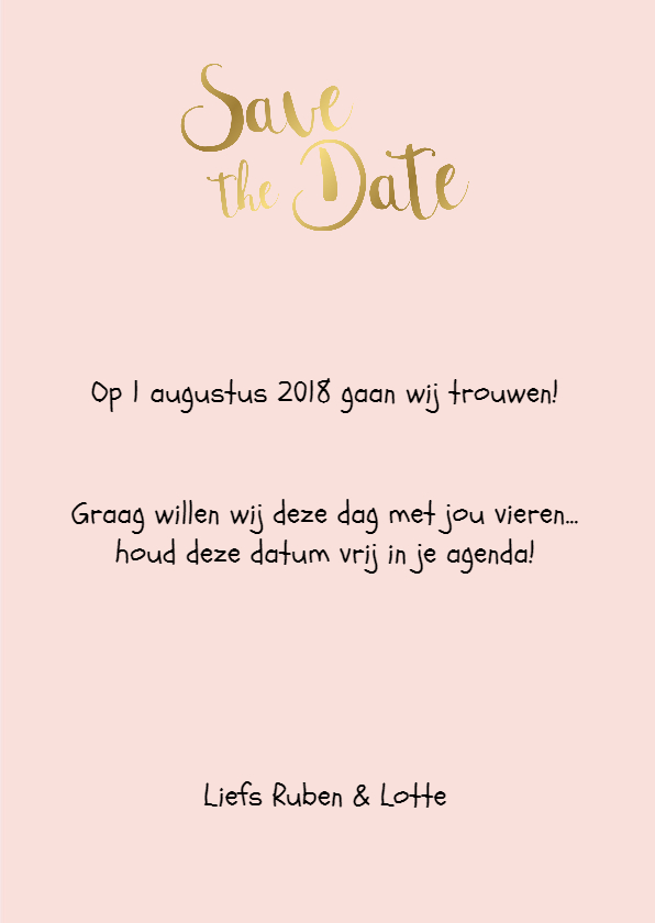 Save the date kaart 3 - WW 3