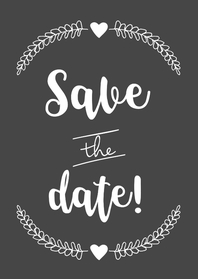 Trouwkaarten - Save the date kaart BW - WW