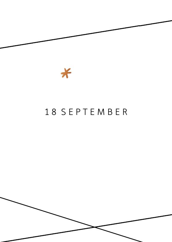 Save the Date kaart  in geometrische stijl 2