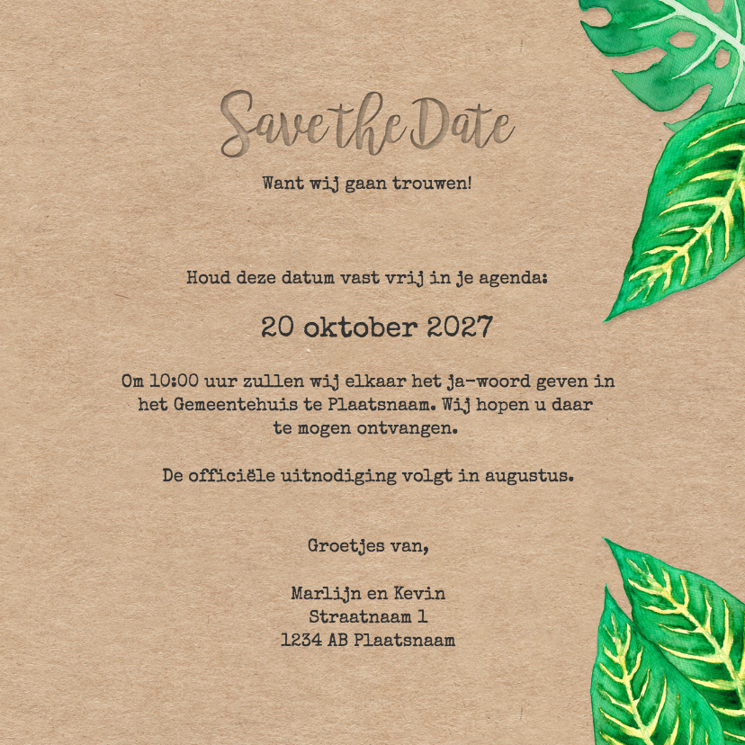 Save the Date Leaves - DH 3