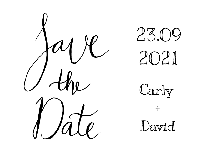 Save the Date modern tekst - HR 2