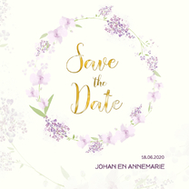 Trouwkaarten - Save the date orchidee