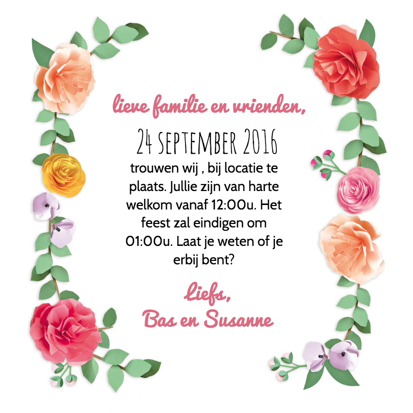 save the date romantische rozen 3