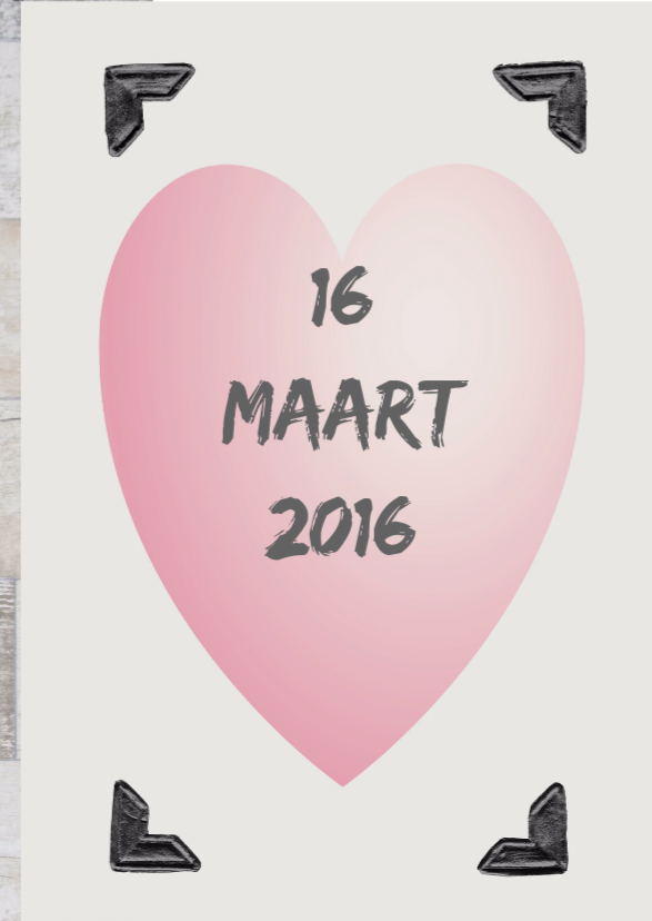Save the Date roze hart 3