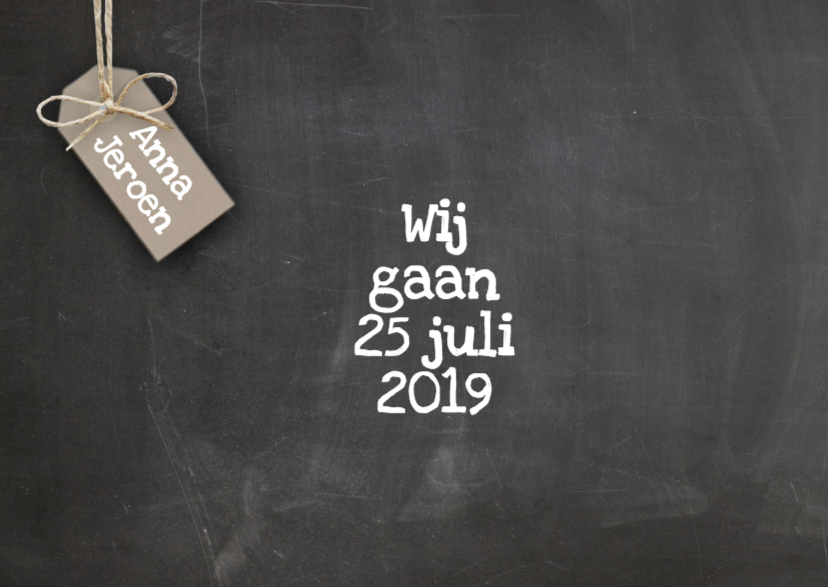 Save The Date tekst 2