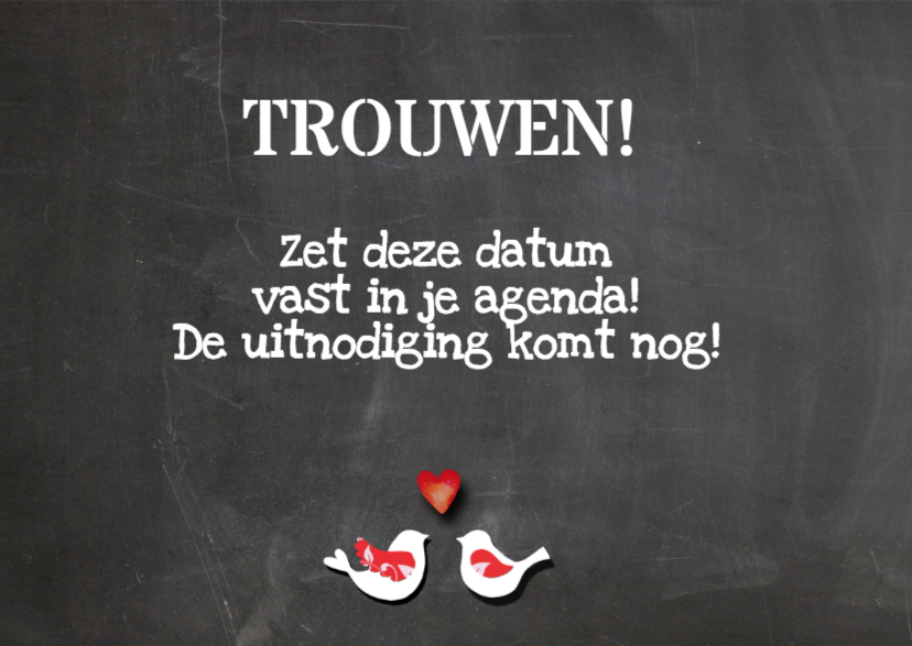 Save The Date tekst 3