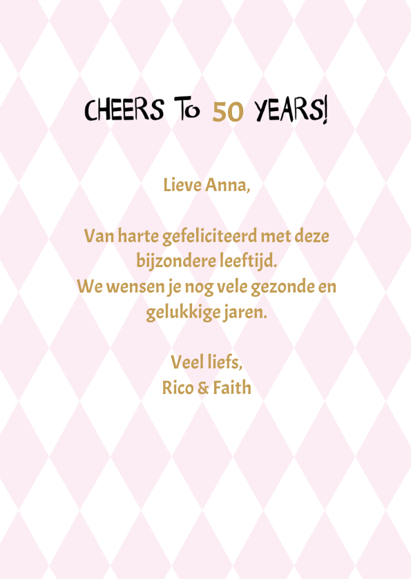 Say cheers to .... years, verjaardagsfelicitatie 3