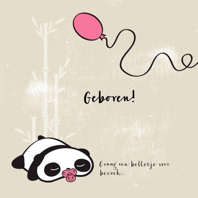 Schattig panda en konijn met ballon 2