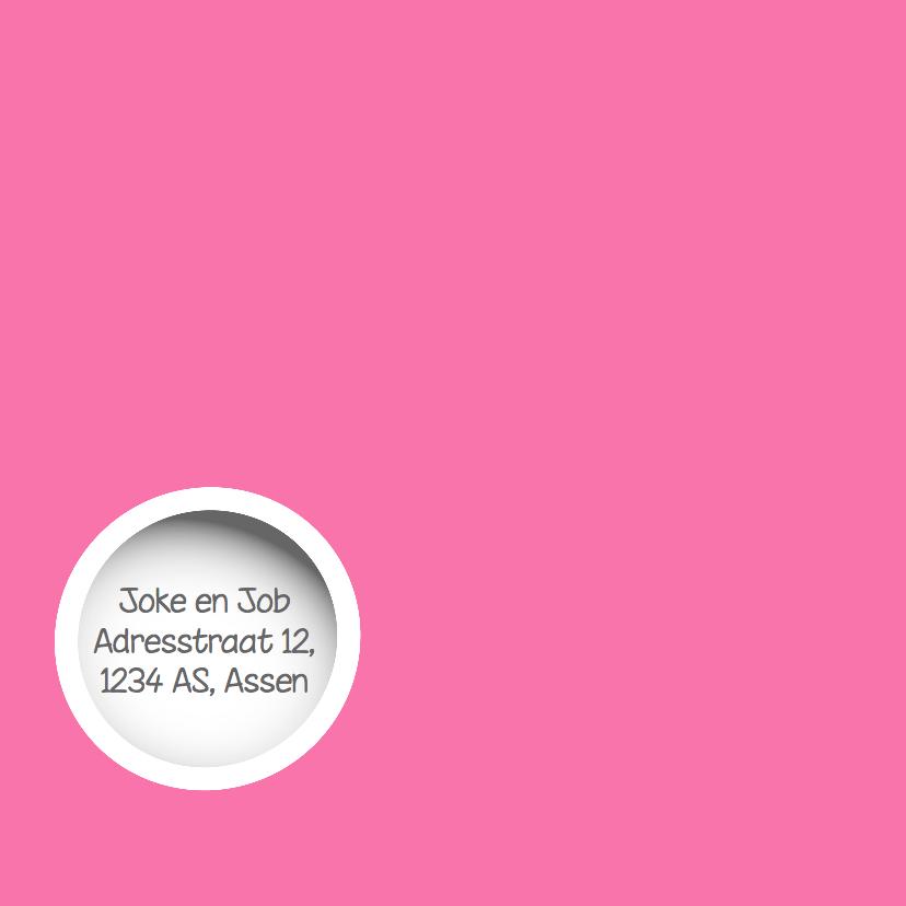 Schattige geboortekaart  met cirkels en uiltjes van Mo Cards 2
