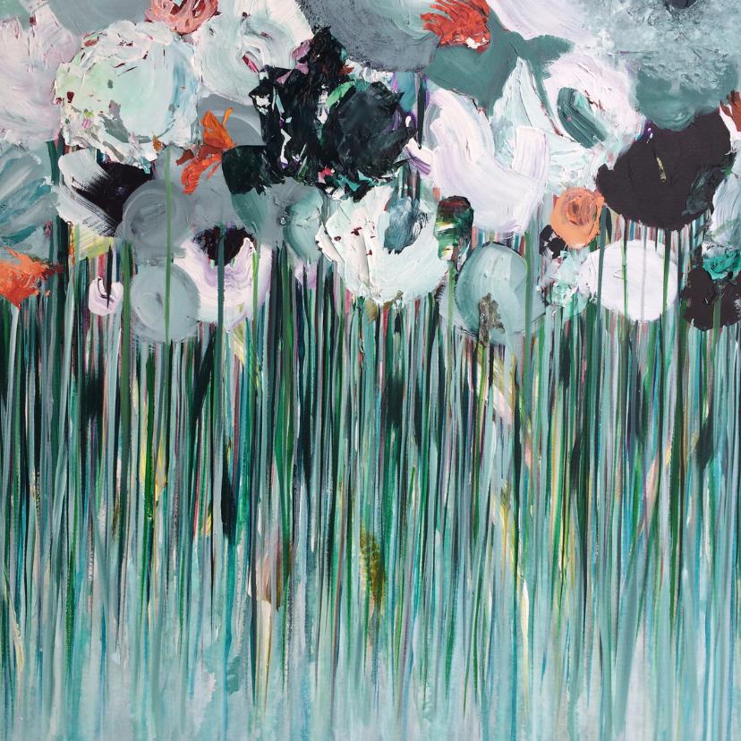 Schilderij 'Morgen' bloemen 2
