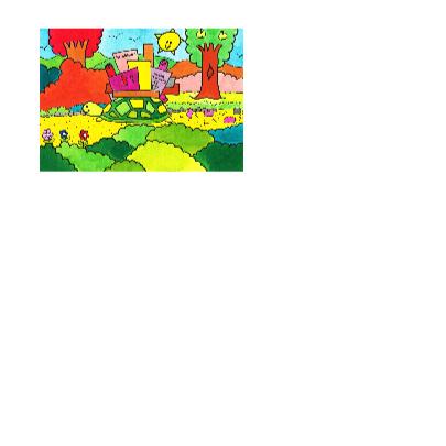 Schildpad gaat verhuizen kleurkaart 3