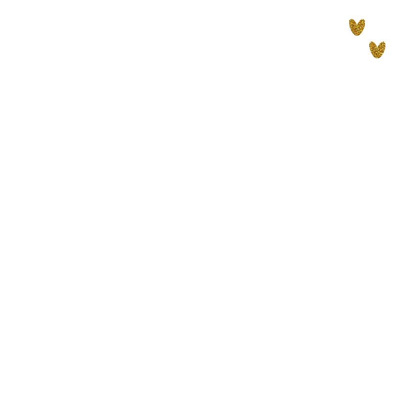 Sfeervolle kerst kaart wit goud  2
