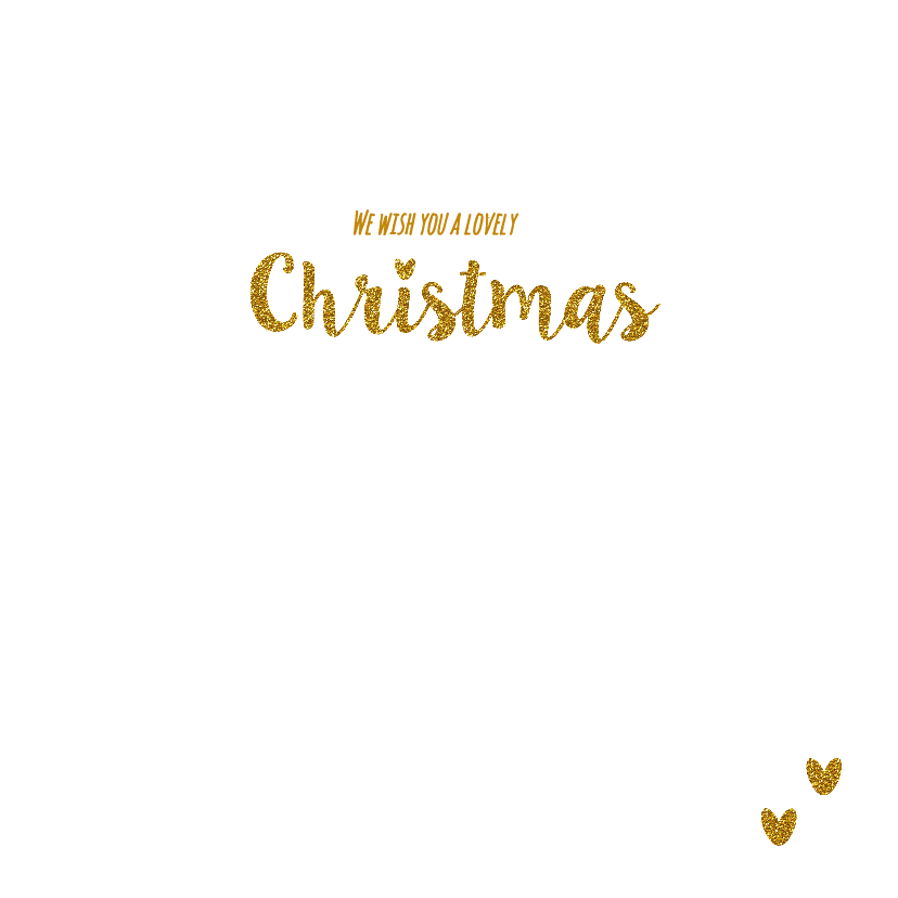 Sfeervolle kerst kaart wit goud  3