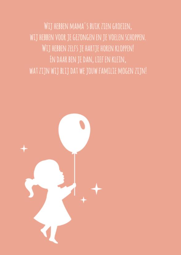 Silhouet geboorte meisje eend 2